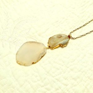Anthropologie geode long necklace